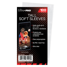(100) Ultra Pro Tall Soft Card Sleeves Widevision / Gameday / Extra Tall Cards