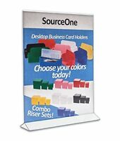 """6 Pack, Acrylic Store Sign Holders 8.5 X 11"""", Double Sided - Office Supplies"""