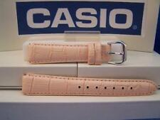 Casio Watch Band Law-20 L-4 Ladies Pink Leather.Two-Piece Strap/Watchband 14mm
