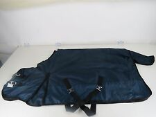 "70"" 600-D Turnout Waterproof Rain Horse SHEET Light Winter Blanket Gusset Navy"
