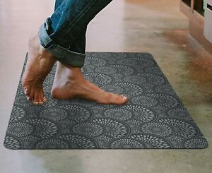 """Floor Mat Ultra-Thin Kitchen Rug with Rubber Backing 35""""x23"""" Gray"""