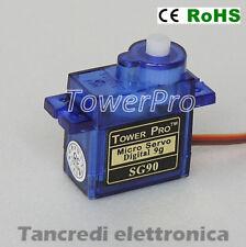 Micro servo 9g Tower Pro SG90 Motore per modellismo RC elicotteri aerei robotica