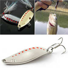 2 Fishing Lures Pike Trout Bass Spoons Spinners Hard Bait Metal Tackle Crankbait
