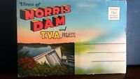 SOUVENIR POST CARD TENNESSE - NORRIS DAM & T.V.A. PROJECTS - Post Card Fold Out