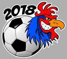 COQ COUPE BALLON FOOTBALL EQUIPE FRANCE 2018 - 11cm AUTOCOLLANT STICKER CB029