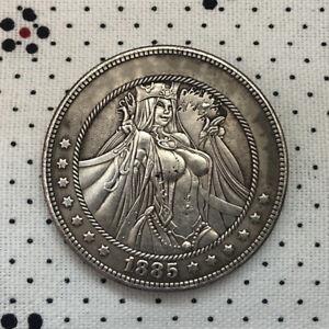 Hobo Nickel COINS FOR SALE, 1885 USA Morgan anime girl Engraving ART Coin