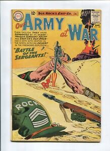 OUR ARMY AT WAR #128 (6.5) *THE FISHERMAN COLLECTION* SGT ROCK ORIGIN 1963