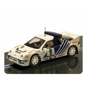 Scalextric C3156 Ford RS200 1986 Rally of Sweden - slot car with working lights