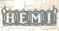 "HEMI Head Gasket wall sign 18"" x 8"", Raw Steel NO paint"