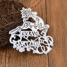 Merry Christmas Diy Templates Paper Craft Metal Cutting Dies Decorations Deer