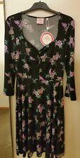 NEW Leona Edmiston Lavender Bunch Princess Neckline Dress, size 8 RRP $129.95