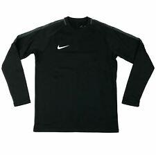 New Nike Academy 18 Crew Long Sleeve Top Men's Medium Soccer Black 893795