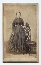 CDV, PORTRAIT OF WOMAN, GHOSTLY QUALITY. KITTANNING, PA.