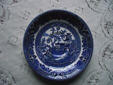 Vtg Circa 1950s Burleigh Ware Blue & White Willow Pattern Saucer Burgess & Leigh