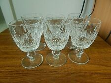 Set Of 6 Waterford Crystal COLLEEN Port Wine Glasses, 4 ins.