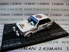 RIT57 car 1/43 IXO Rally ITALY TALBOT Sunbeam Lotus Frequelin Brasil 1981