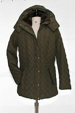 NWT Andrew Marc NY Olive Green   Quilted Jacket Coat Detachable Hood Size S