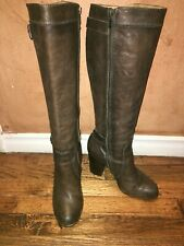 FRYE Distressed Tall Heel Leather Riding Brown Boots Size 8M