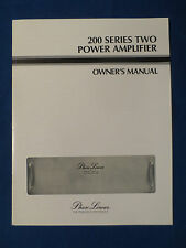 PHASE LINEAR 200 SERIES TWO AMPLIFIER OWNER MANUAL ORIGINAL FACTORY ISSUE