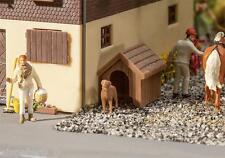 Hundehütte mit Hund, Faller Modell Bausatz Miniaturwelten H0 (1:87), Art. 180939