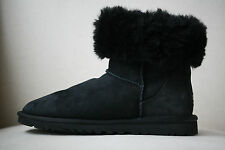UGG AUSTRALIA CLASSIC SHORT BLACK BOOTS UK 4 EURO 37 US 6