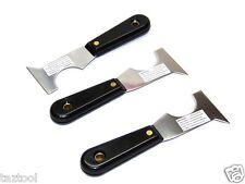 3pcs 5 in 1 paint scraper, putty knife, knife,  roller cleaner, crevice scraper