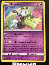 Carte Pokemon MELOETTA 104/214 RARE Soleil et Lune 8 SL8 Tonnerre Perdu FR NEUF