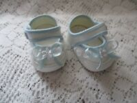 "Doll Clothes 2 1/2 in. Shoes White-Blue fit American Character Tiny Tears 15""16"""