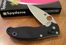 SPYDERCO New Black G10 Manix 2 Plain Edge CPM S30V Blade Knife/Knives