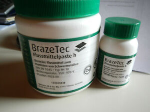 Flussmittelpaste h BrazeTec Hartlöten Schwermetalle Bohrkronen Segmente 100 gr