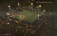 Chicago Comiskey Park White Sox Baseball LINEN Postcard