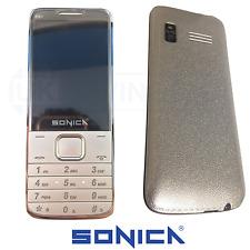 SILVER DUAL SIM Sbloccato Cellulare Big Button record Call Bluetooth Slim Doro