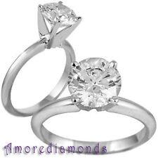 2.39 ct D IF IGI round triple excellent ideal cut diamond classic solitaire ring