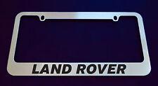 LAND ROVER LICENSE PLATE FRAME, CUSTOM MADE OF CHROME (Zinc Metal)