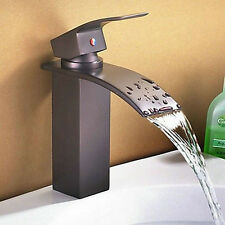Oil Rubbed Bronze Bathroom Basin Sink Vessel Mixer Waterfall  Faucet