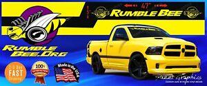 Rumble Bee windshield Vinyl Decal Racing Sticker