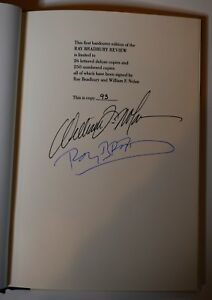 Ray Bradbury Review 1952 Original & 1988 Signed & Numbered Hardcover - 4X Signed