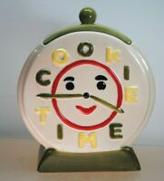 VINTAGE COOKIE JAR CLASSICS BY JONAL COOKIE TIME CLOCK STYLE PORCELAIN