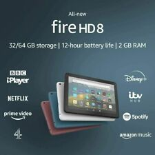 Amazon Fire HD 8 Tablet Black 10th Generation 2020 With Full HD Display 32GB