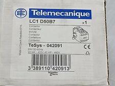 Telemecanique  LC1 D50B7 Contactor  24VAC Coil  NEW