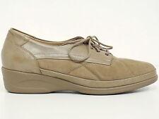 WALDLÄUFER ▲ Schnürschuhe Gr. 41 (7.5) Damen Leder Beige Schuhe Shoes