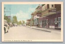 2nd Ave BEAUCE Quebec City—Coca Cola Sign—Rare Vintage CPA St. Georges Est 1930s