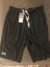 Black mens under armour shorts size medium Loose Fit Heat gear