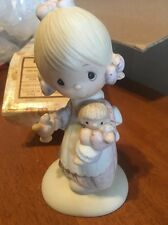Precious Moments~ORIGINAL 21~Jesus Is The Light~E1373G~Girl Holding BABY DOLL