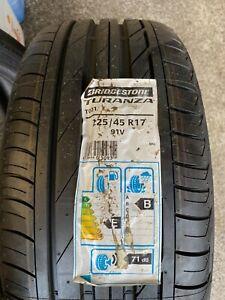 New 225/45/17 Bridgestone Turanza T001