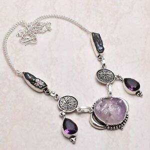 Amethyst Rough Amethyst Ethnic Handmade Necklace Jewelry 28 Gms AN 81286