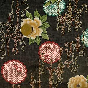Kona Bay Noshi Collection NOSH-02 Black Oriental 100% Cotton Fat Quarter