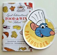Walt Disney World EPCOT Passholder Chef Remy Magnet and Food & Wine Passport
