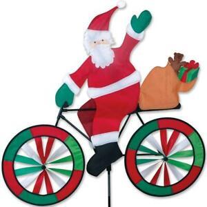 Santa on a Bike Lawn Spinner