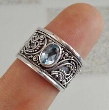 Topaz Band Sterling Silver Handcrafted Rings